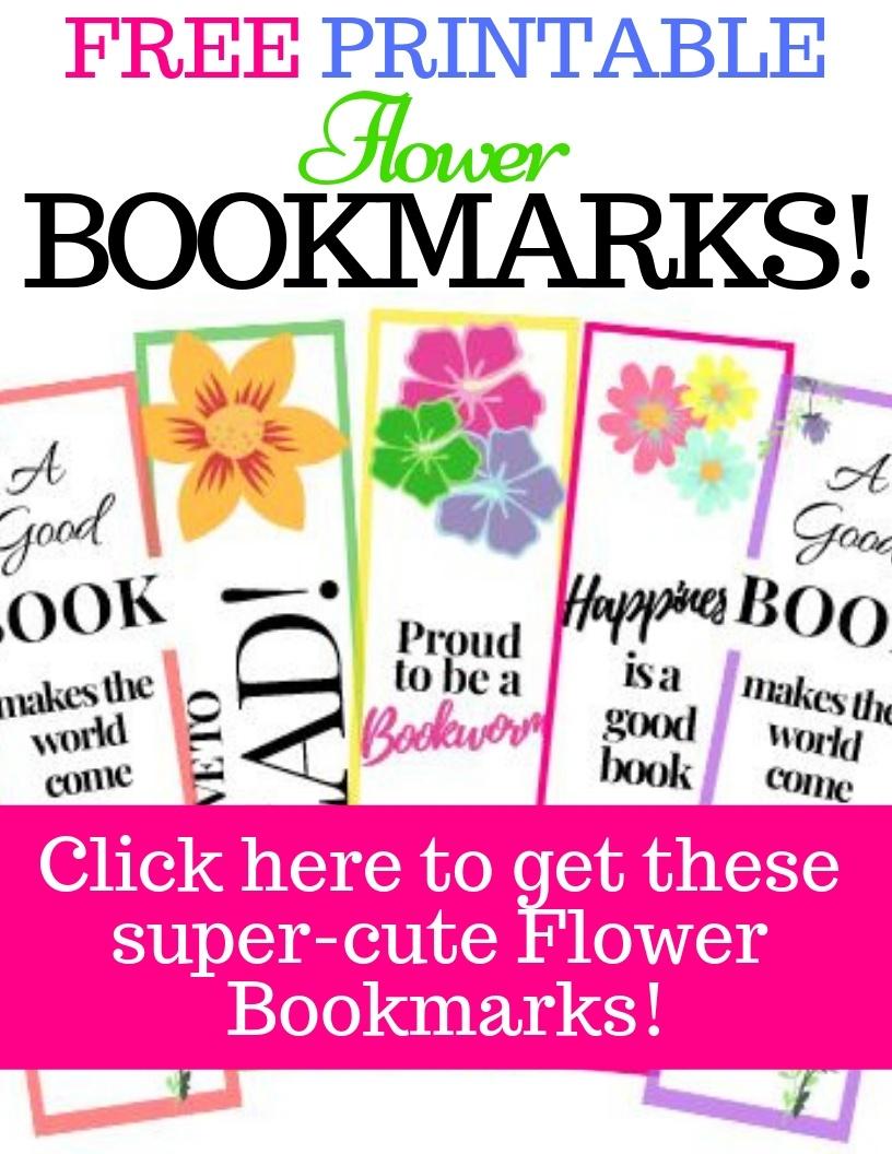 8 Free Printable Flower Bookmarks - Super Cute!!  My Three Readers - Free Printable Spring Bookmarks