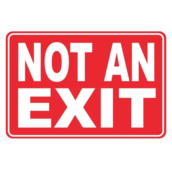 Free Printable Not An Exit Sign