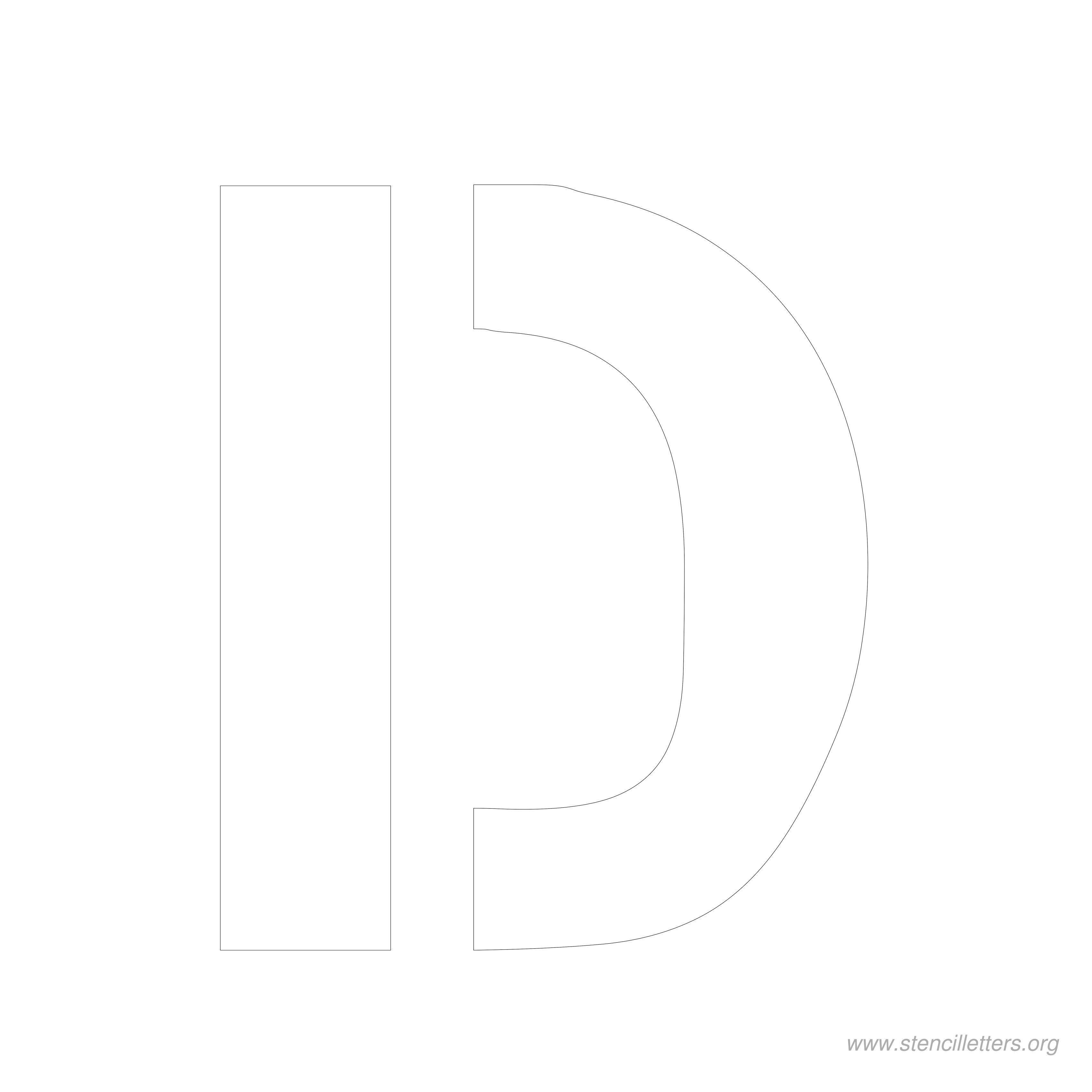 8 Inch Stencil Letter D   Letters   Letter Stencils, Lettering, Stencils - Free Printable 8 Inch Letters
