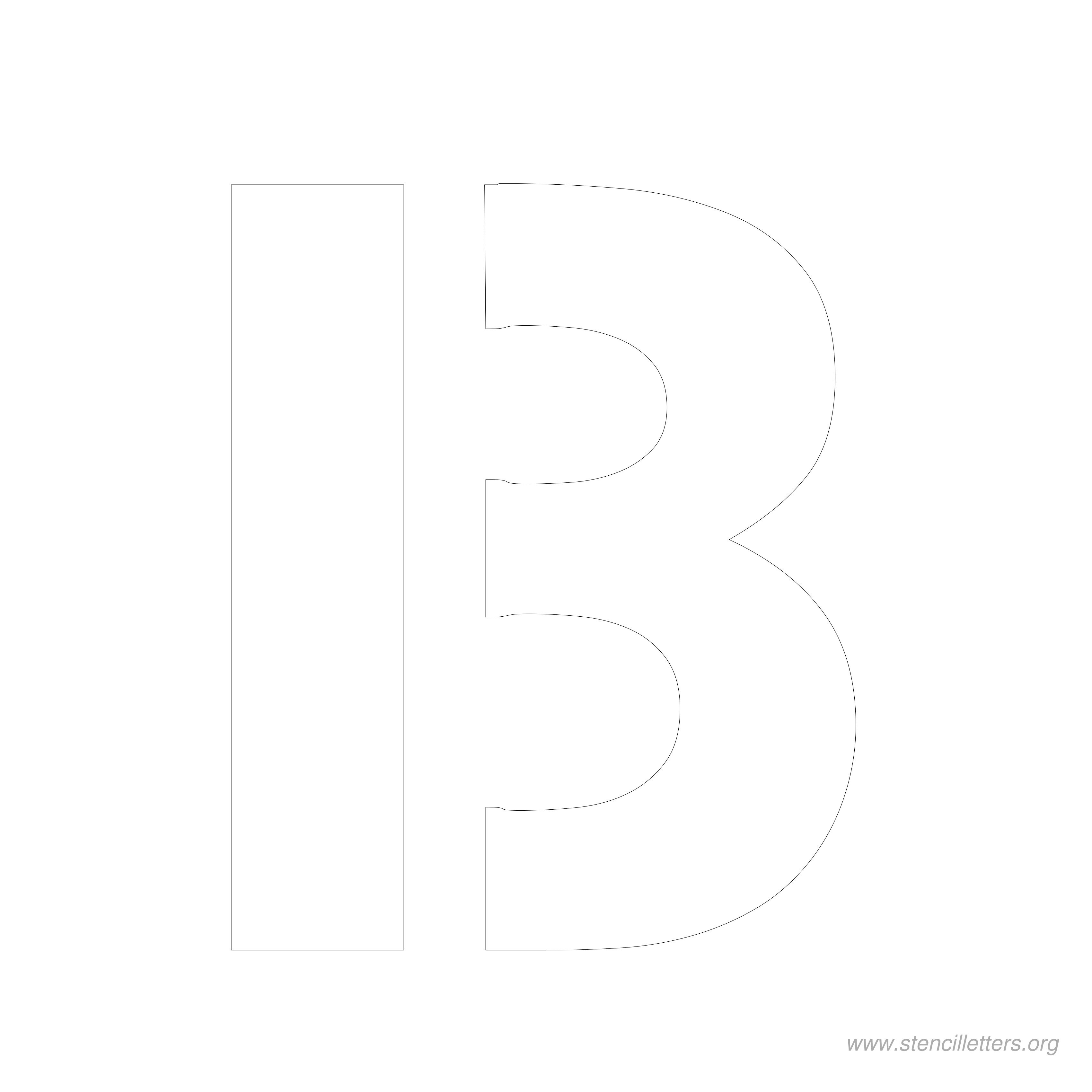 8 Inch Stencil Letters   Stencil Letters Org - Free Printable 8 Inch Letters