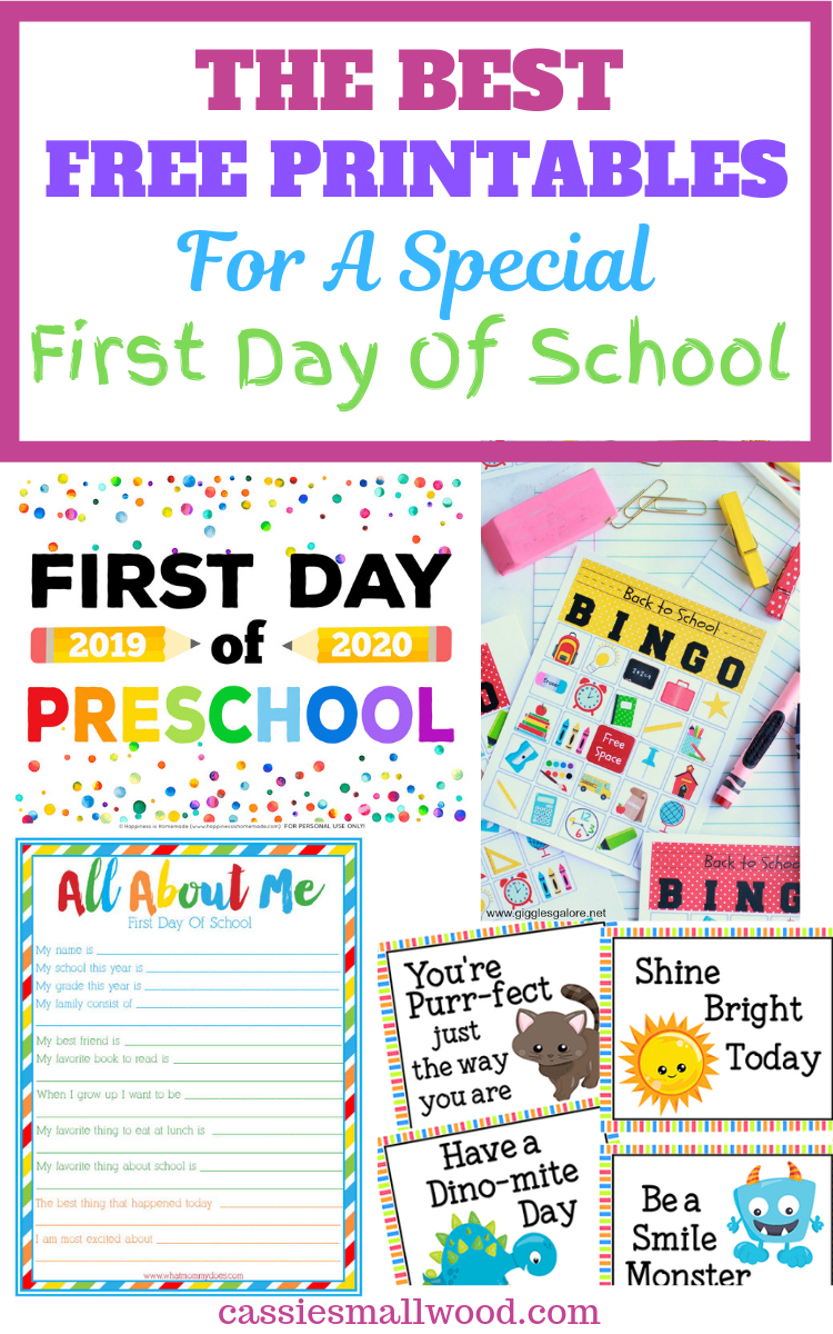 9 Back To School Free Printables For Parents And Teachers ~ Cassie - Free Printable First Day Of School Certificate