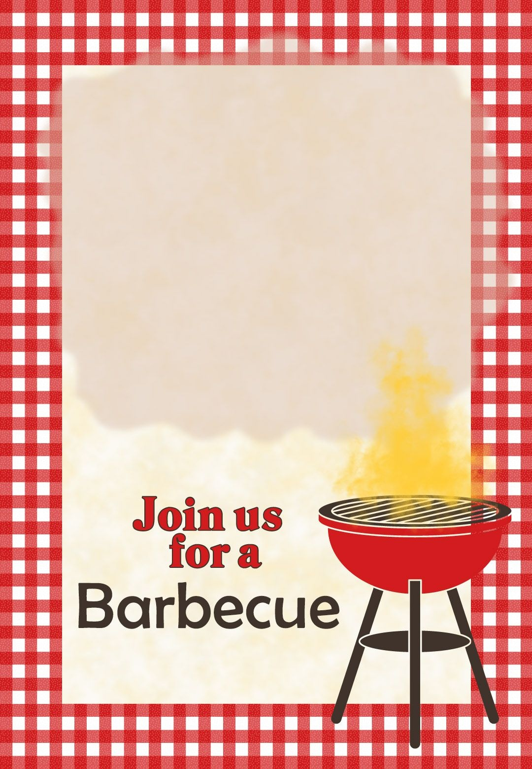 A Barbecue - Free Printable Party Invitation Template | Greetings - Free Printable Cookout Invitations