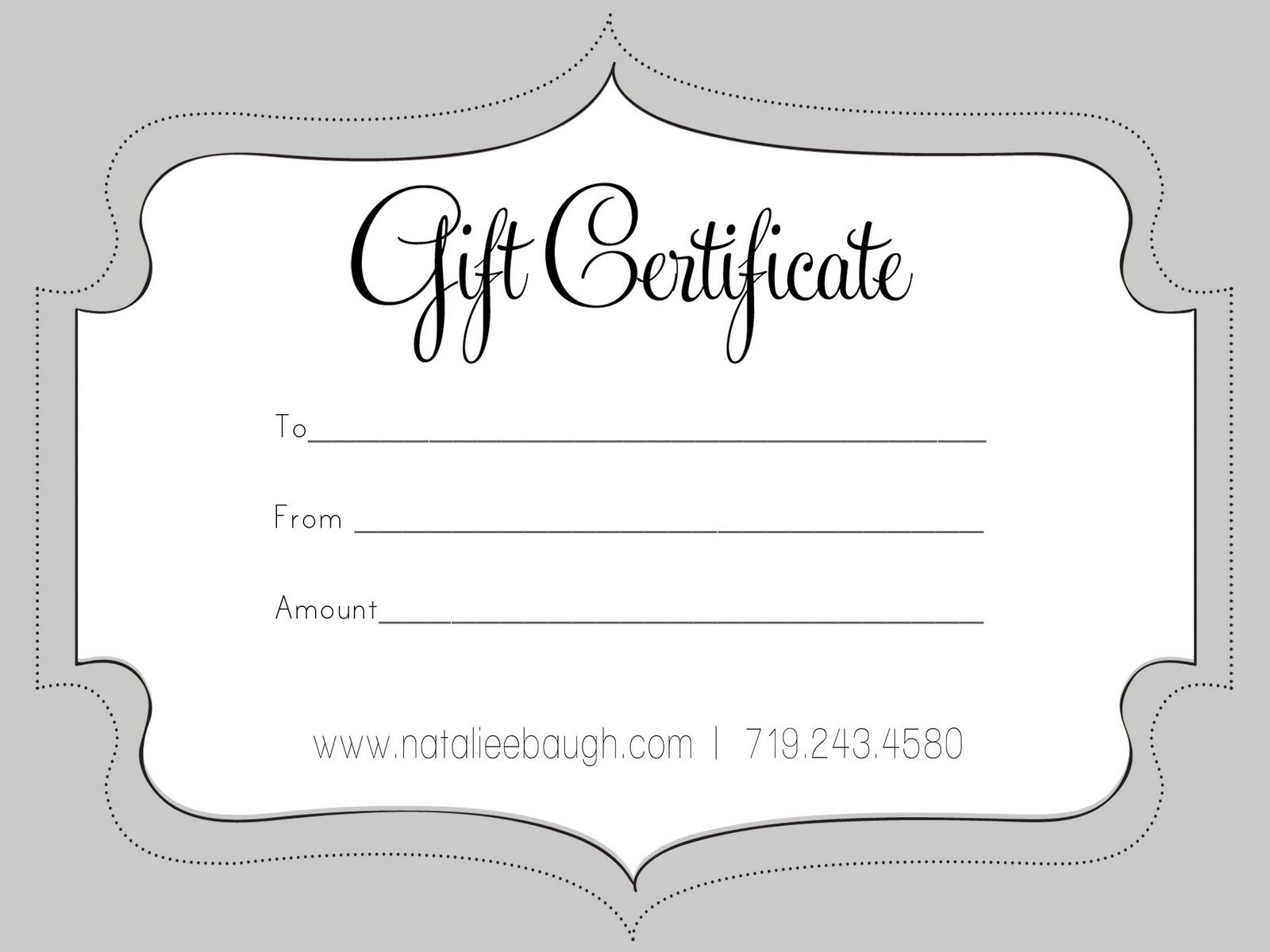 A Cute Looking Gift Certificate   S P A   Gift Certificate Template - Free Printable Gift Certificates For Hair Salon