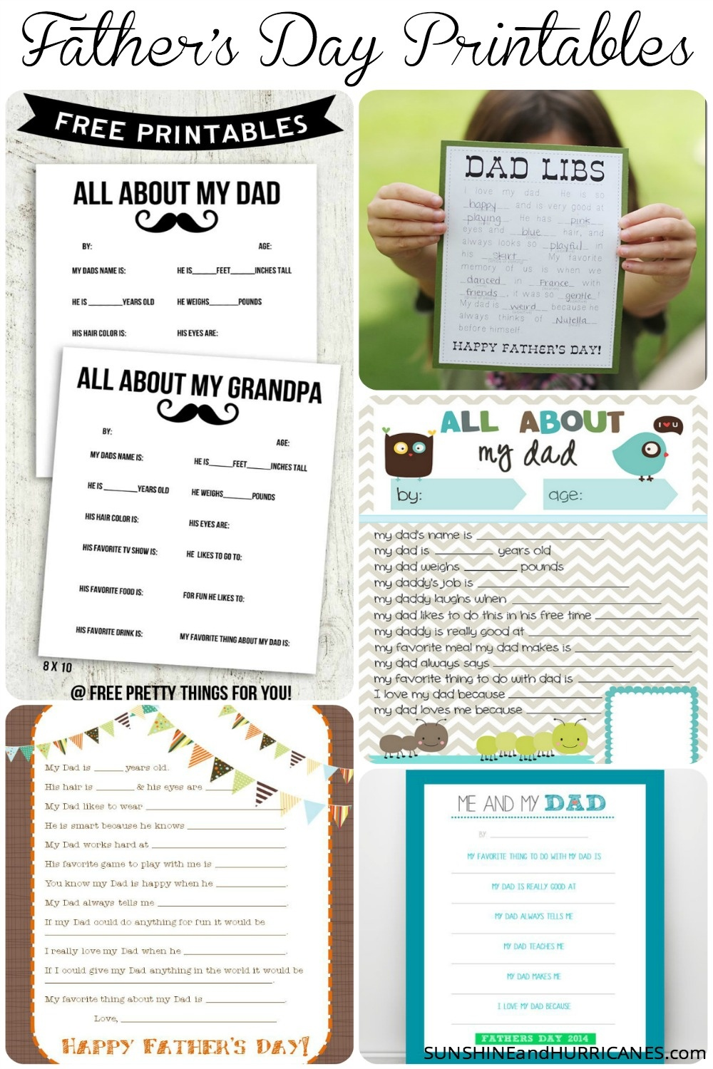 All About My Dad - A Printable Father's Day Questionnaire - Free Printable Dad Questionnaire