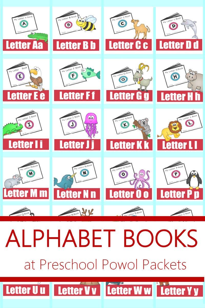Alphabet! Free Printable Mini Books   Preschool Powol Packets - Free Printable Abc Mini Books