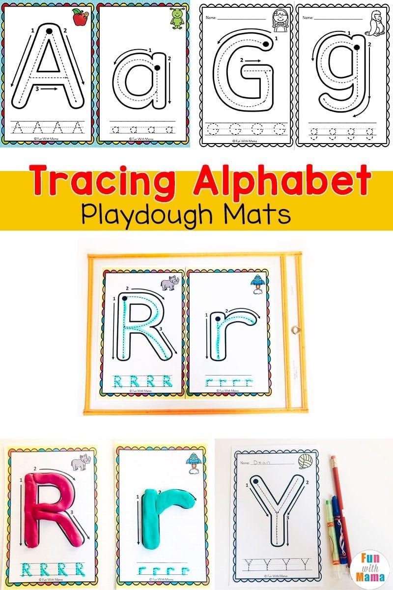 Alphabet Tracing Mats - Play Dough Mats | Alphabet Letter Activities - Alphabet Playdough Mats Free Printable
