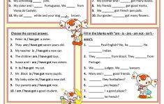 Am, Is, Are, Has, Have Worksheet – Free Esl Printable Worksheets – Free Printable Esl Worksheets For High School