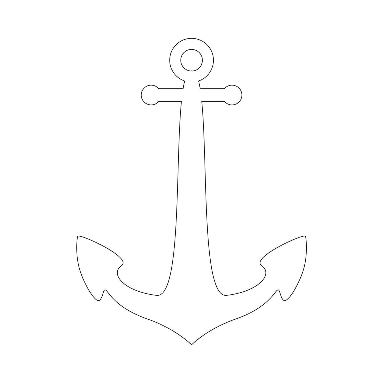 Anchor Stencil   Free Printable Stencil Templates   图案 - Free Printable Anchor Template