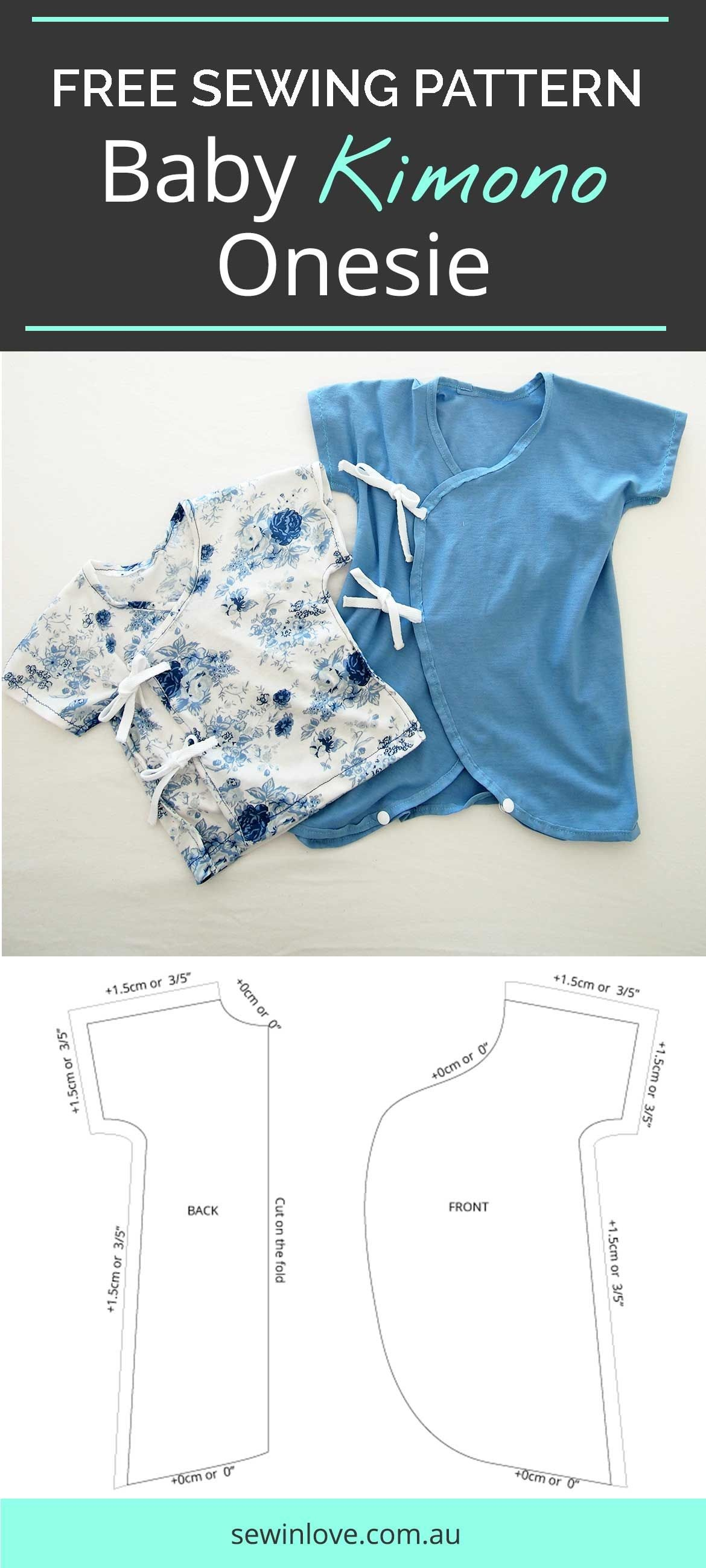 Another Baby Kimono Sewing Pattern - Onesie Version | Sewing - Free Printable Onesie Pattern