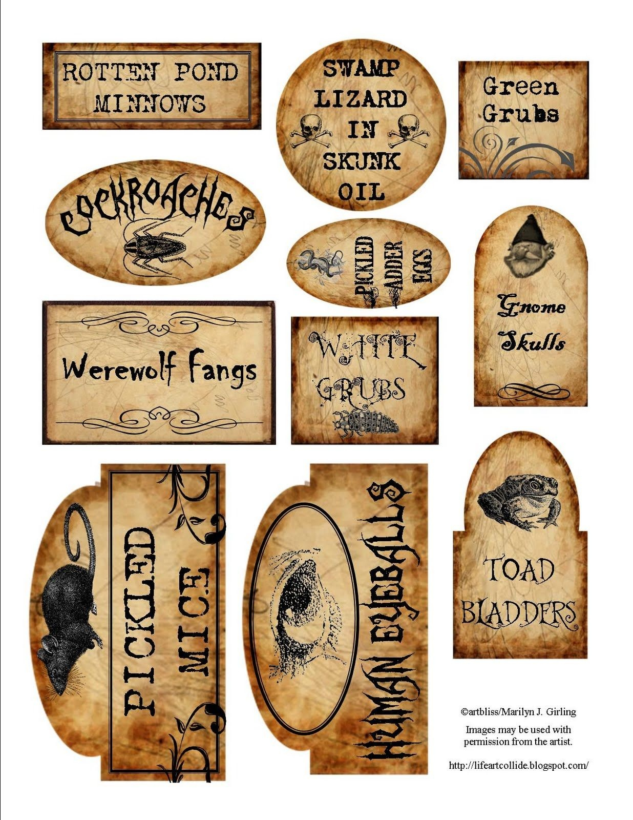 Apothecary Jar Labels For Download …   Holiday   Halloween - Free Printable Halloween Bottle Labels