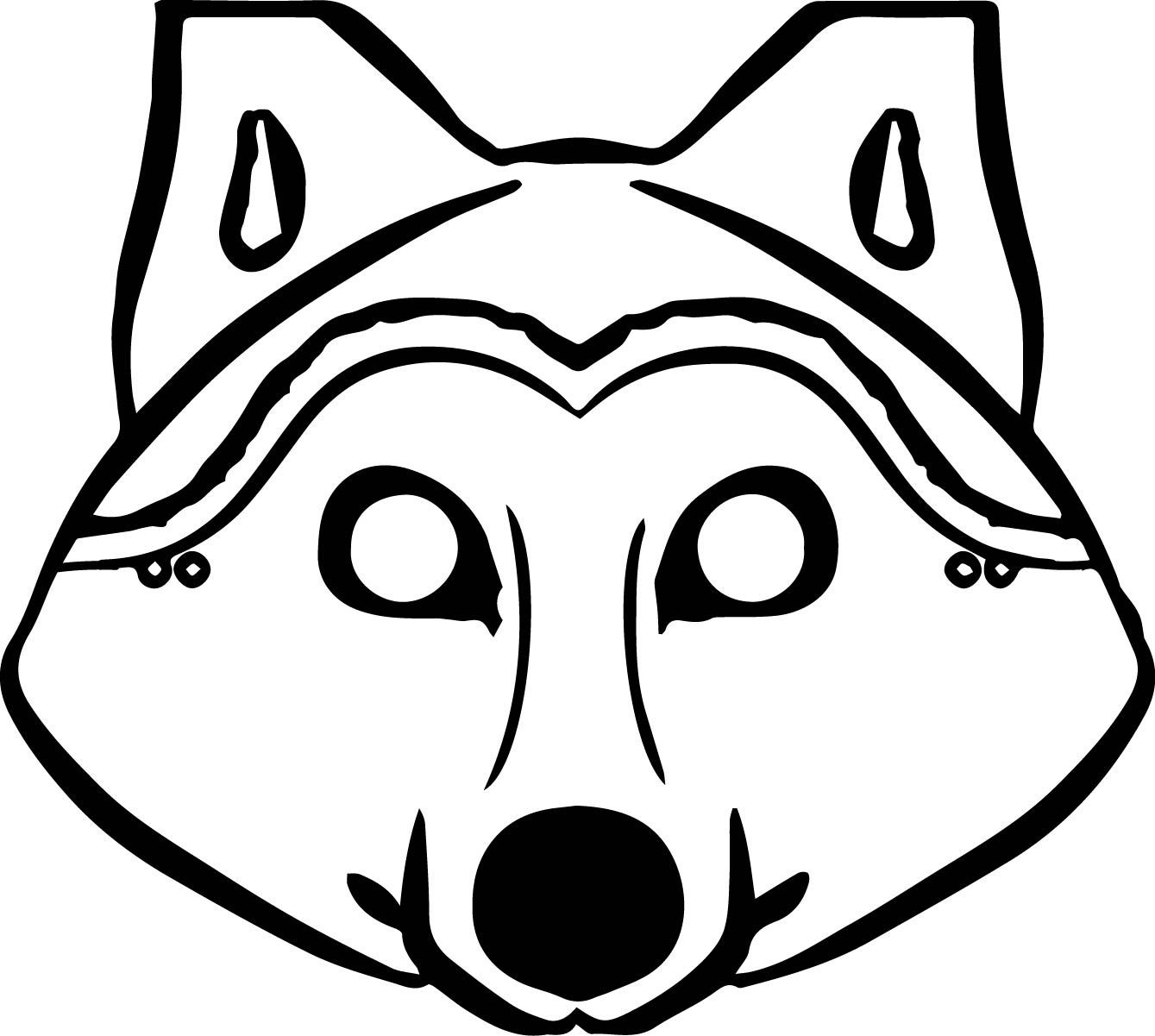 Awesome 3 Pigs Wolf Mask Coloring Pages   Wecoloringpage   Wolf Mask - Free Printable Wolf Mask