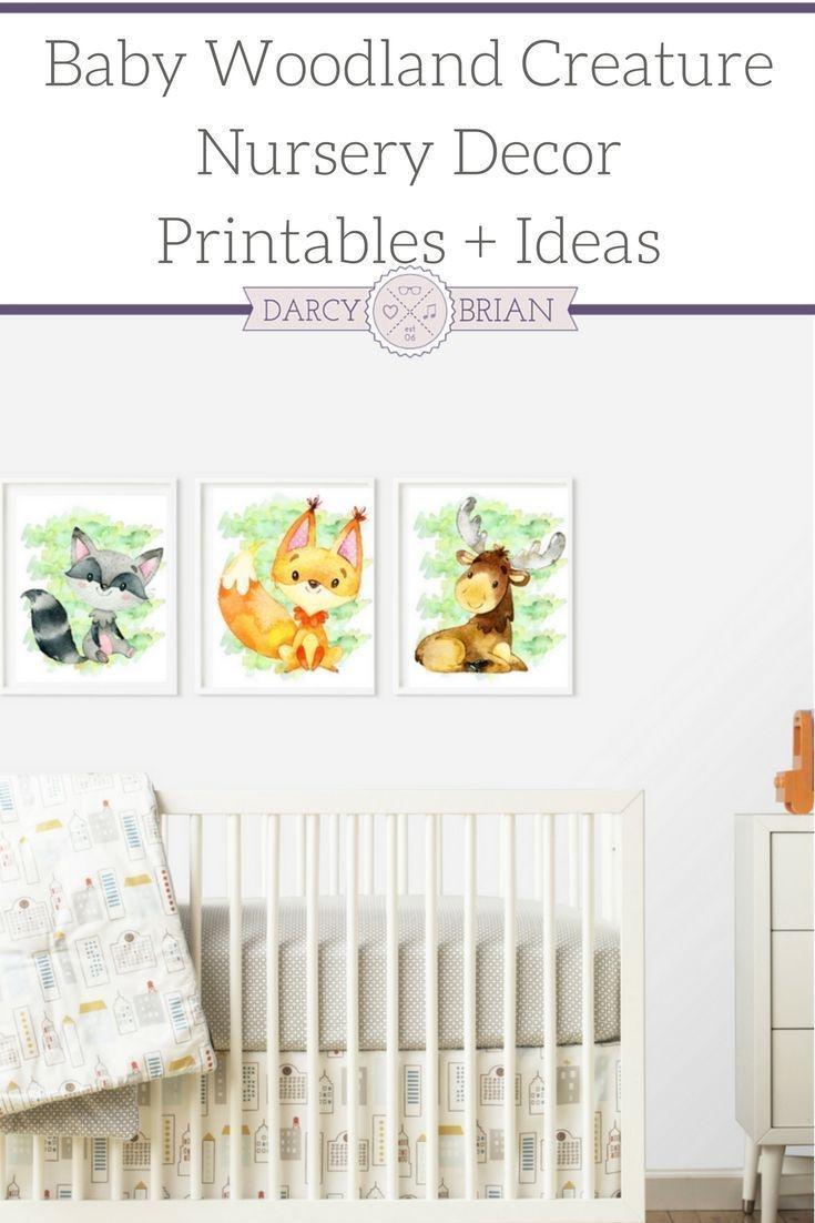 Baby Creature Woodland Nursery Printable Posters   Parenting Tips - Free Printable Nursery Resources