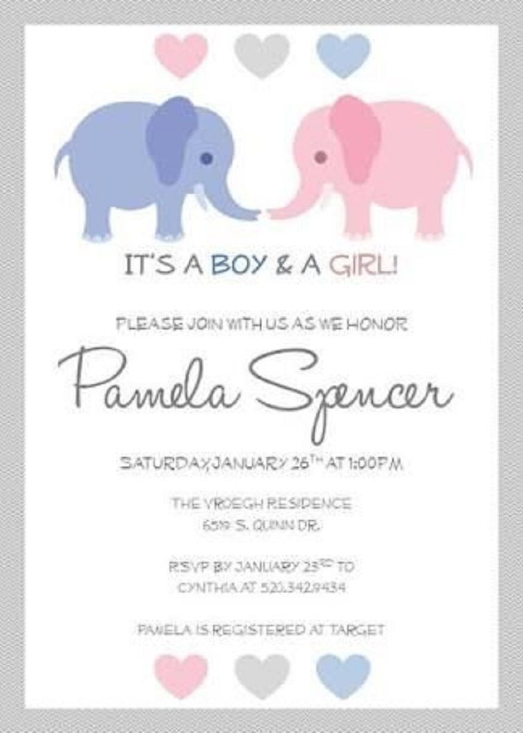 Baby Shower Invitations For Twins Free Printable   Party Invitation - Free Printable Twin Baby Shower Invitations