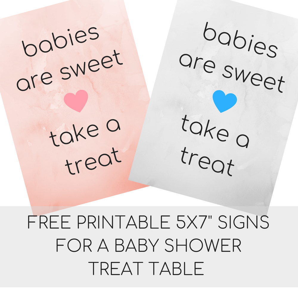 Baby Shower Sayings And Free Printable Baby Shower Signs   Liz's - Free Printable Baby Shower Table Signs
