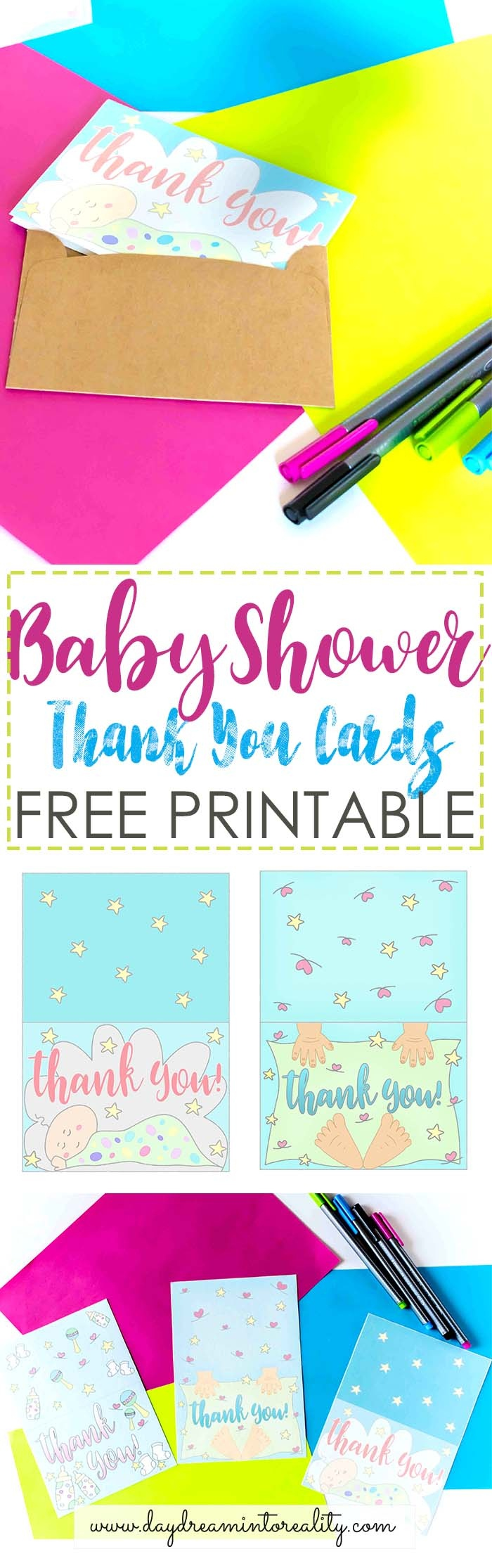 Baby Shower Thank You Cards Free Printable - Free Printable Baby Shower Thank You Cards