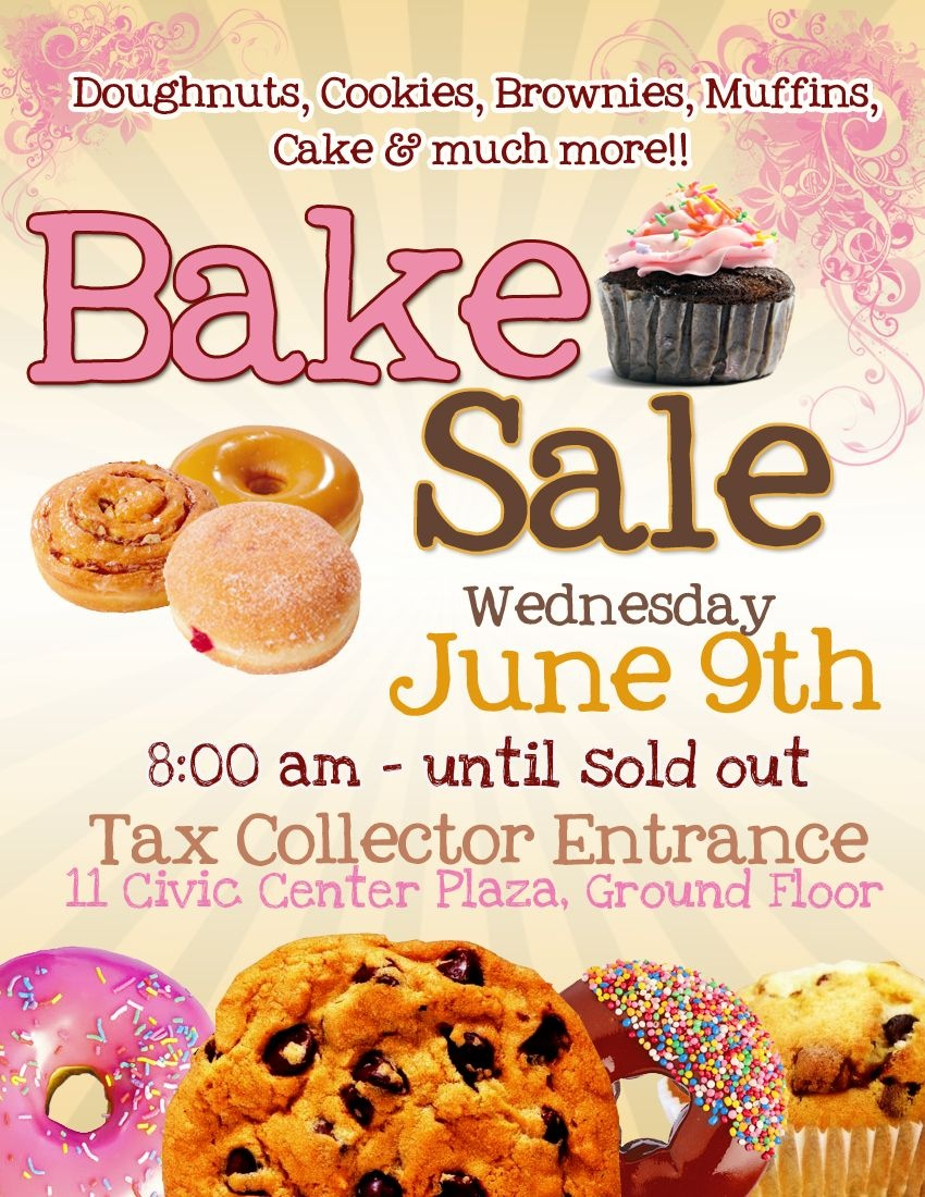 Bake Sale Flyer Template Free Cakepins …   Flyers In 2019… - Free Printable Fundraiser Flyer Templates