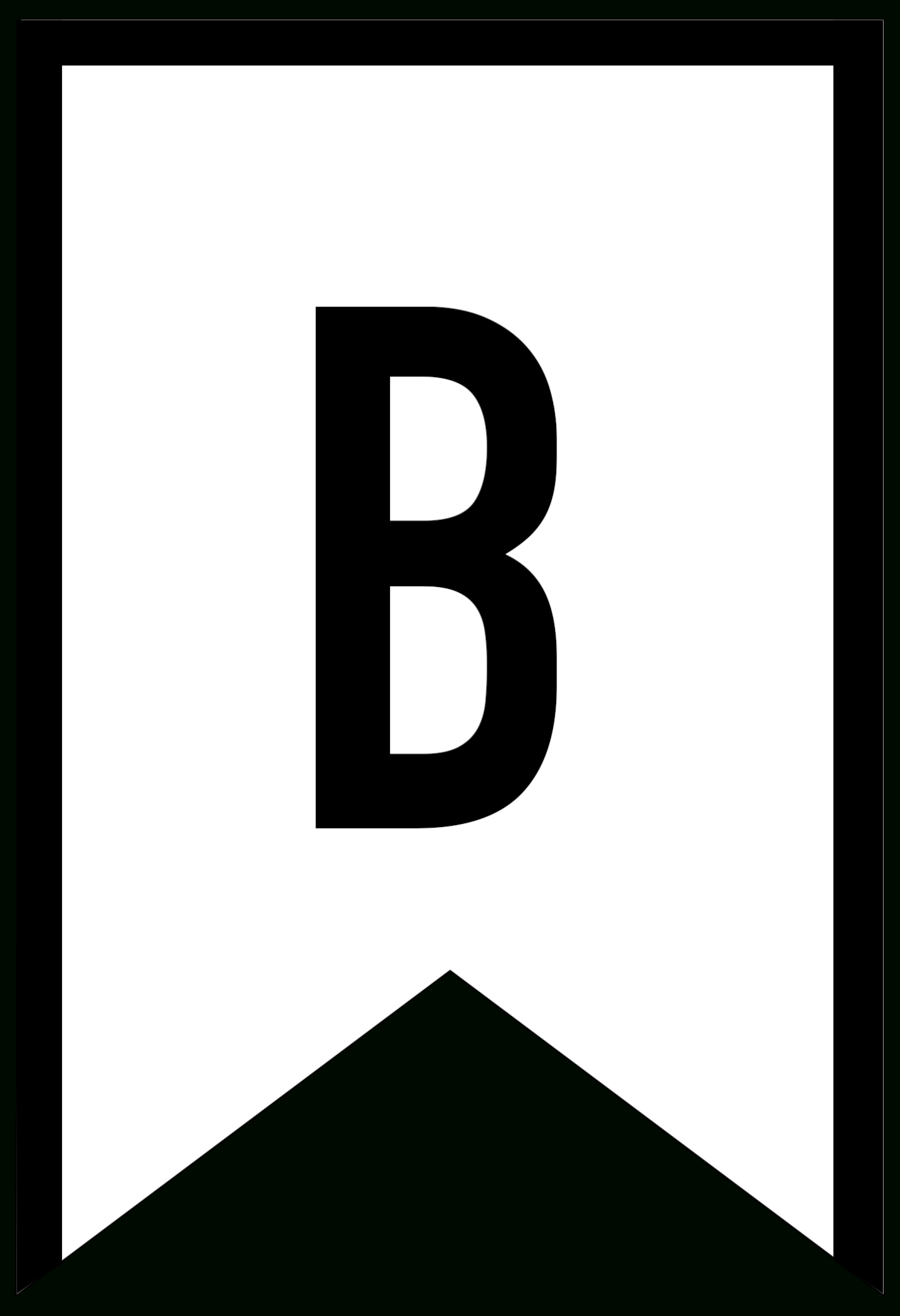 Banner Templates Free Printable Abc Letters - Paper Trail Design - Free Printable Alphabet Letters For Banners