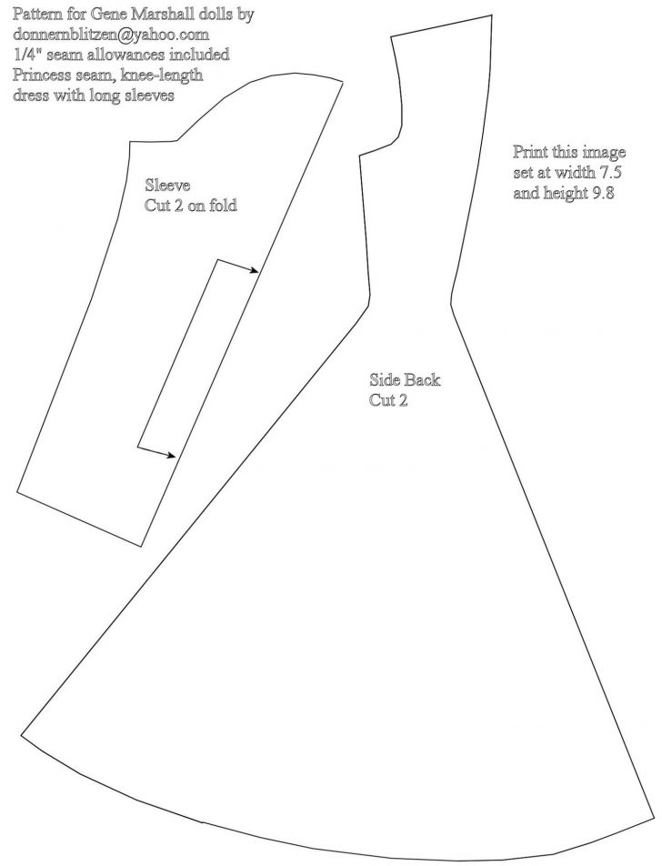 Barbie Dress Patterns Free Printable Pdf