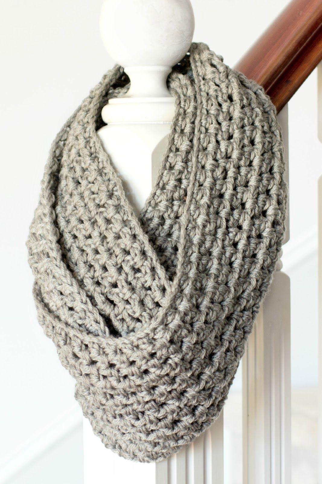 Basic Chunky Infinity Scarf Crochet Pattern | Neck Dec | Crochet - Free Printable Crochet Scarf Patterns