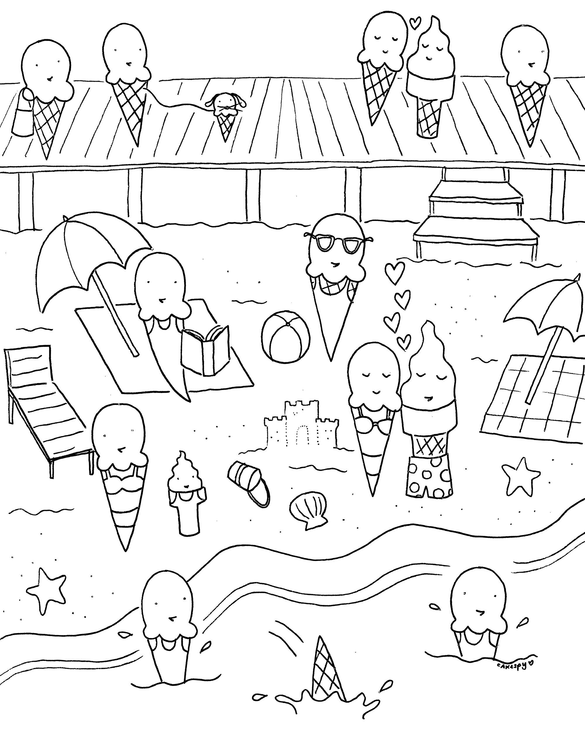 Beach Coloring Pages Printable New Beach Coloring Pages To Print New - Free Printable Summer Coloring Pages For Adults