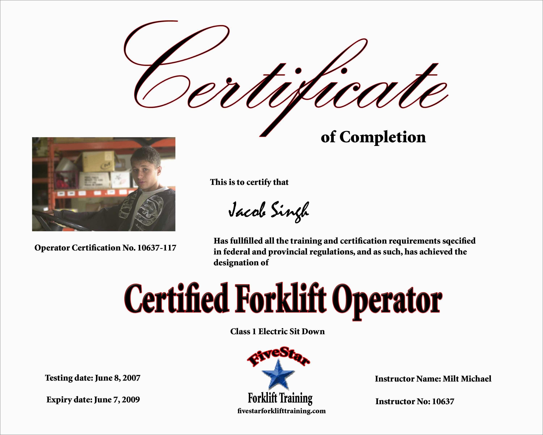 forklift certification template license printable certificate urbancurlz classes nj douglasbaseball osha word wallet templates drivers trainer train training lovely professional