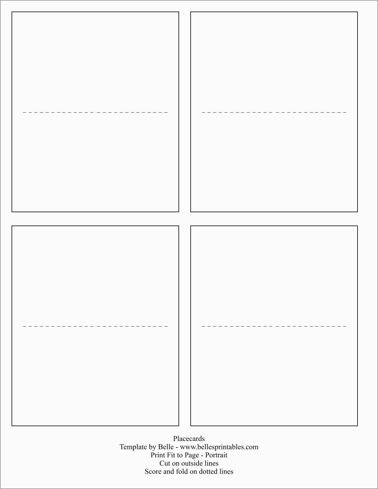 Beautiful Free Place Card Template Word | Best Of Template - Free Printable Place Cards Template