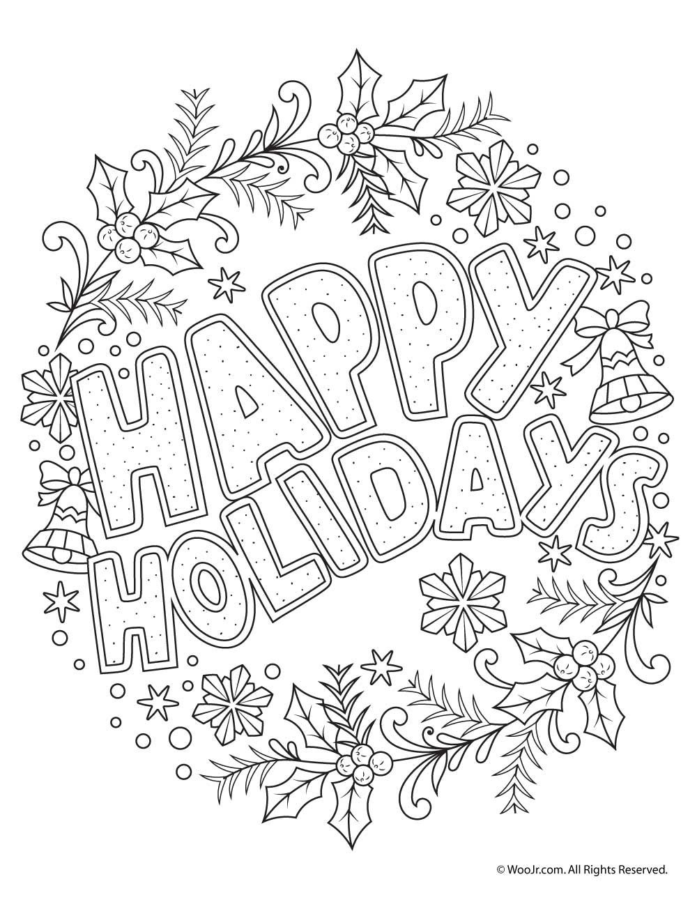 Beautiful Printable Christmas Adult Coloring Pages | Coloring Pages - Free Printable Christmas Coloring Pages