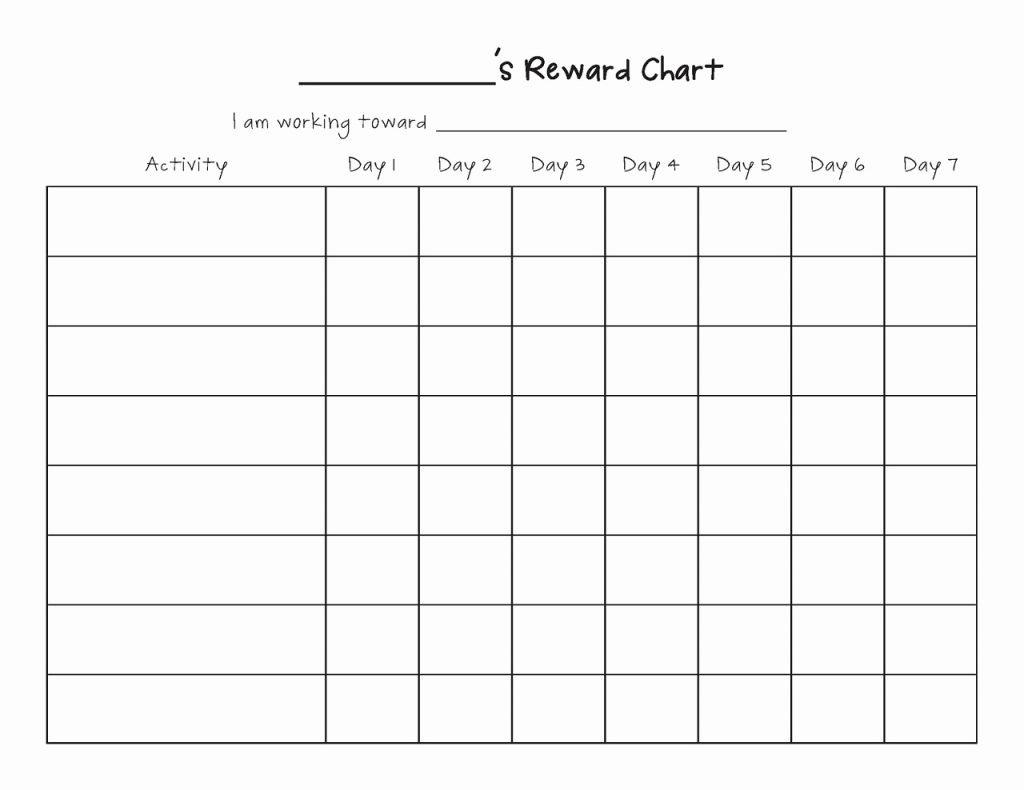 Behavior Chart Template High School Free Printable Behavior Charts - Free Printable Reward Charts For Teenagers