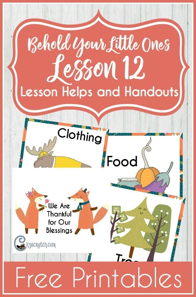 Behold Your Little Ones Lesson 12: I Can Pray With My Family - Free Printable Nursery Resources