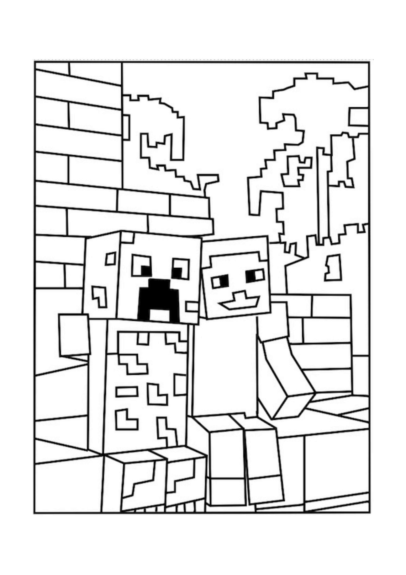 Best Minecraft Creeper Coloring Pages - Free, Printable Minecraft - Free Printable Minecraft Activity Pages