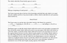 Best Of Free Vehicle Rental Agreement Template | Best Of Template – Free Printable Vehicle Lease Agreement