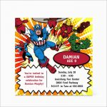 Best Of Marvel Party Invitation Template Free   Best Of Template   Avengers Party Invitations Printable Free