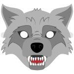 Big Bad Wolf Mask Template | Free Printable Papercraft Templates – Free Printable Wolf Face Mask