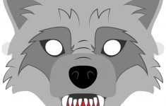 Big Bad Wolf Mask Template | Free Printable Papercraft Templates – Free Printable Wolf Face Mask