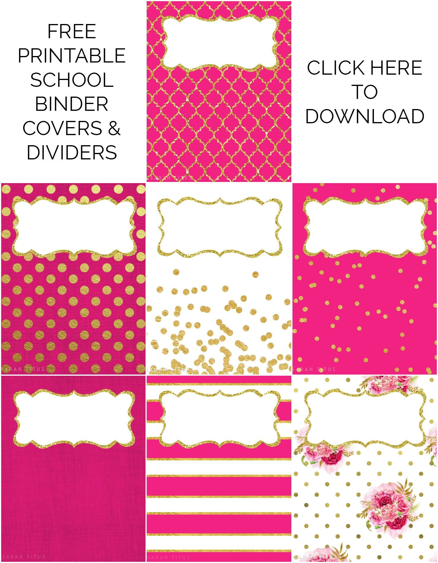 Binder Covers / Dividers Free Printables | Plans | Binder Covers - Free Printable Dividers