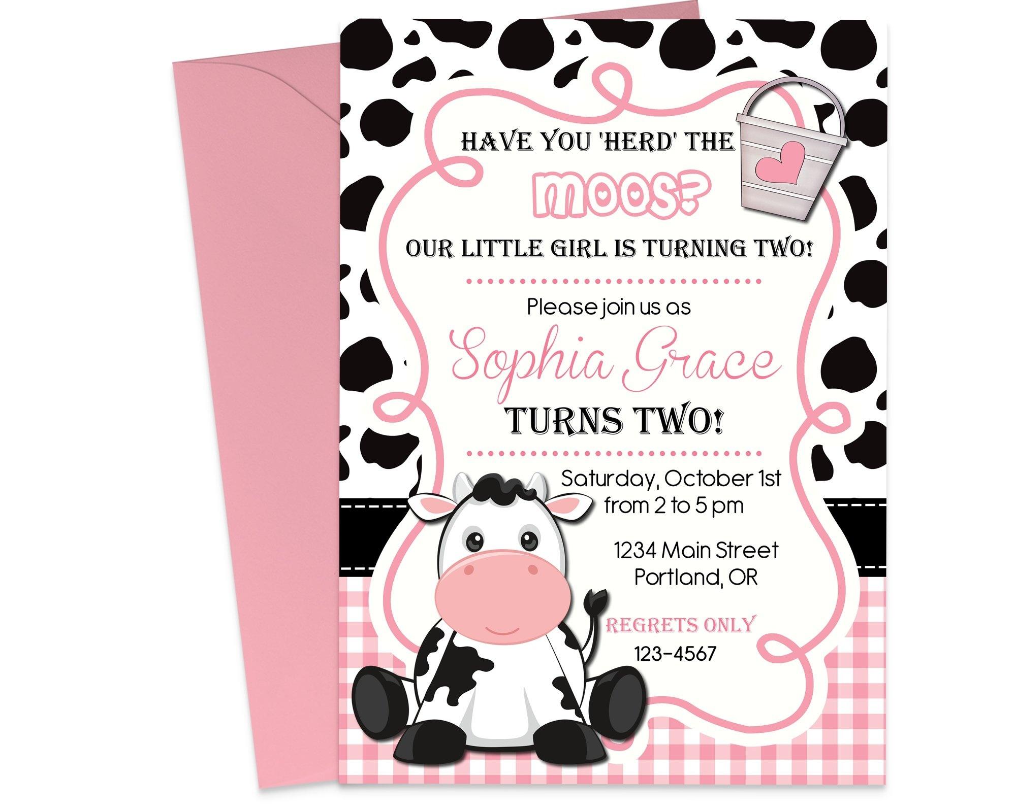 Birthday Invitation. Cow Birthday Party Invitations - Lindeymagee - Free Printable Cow Birthday Invitations