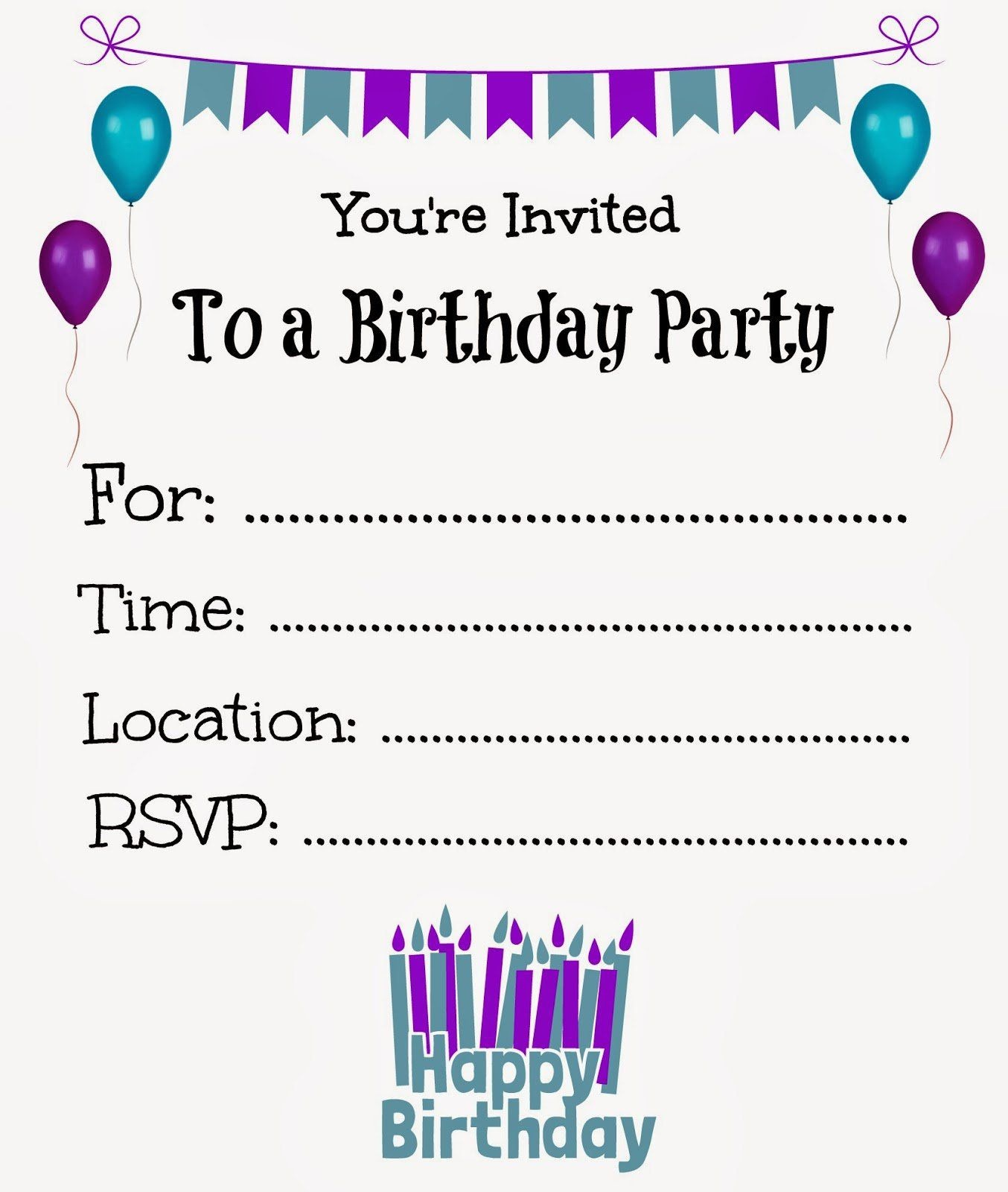 Birthday Invitations Cards Online | Birthday Invitations Template - Birthday Party Invitations Online Free Printable