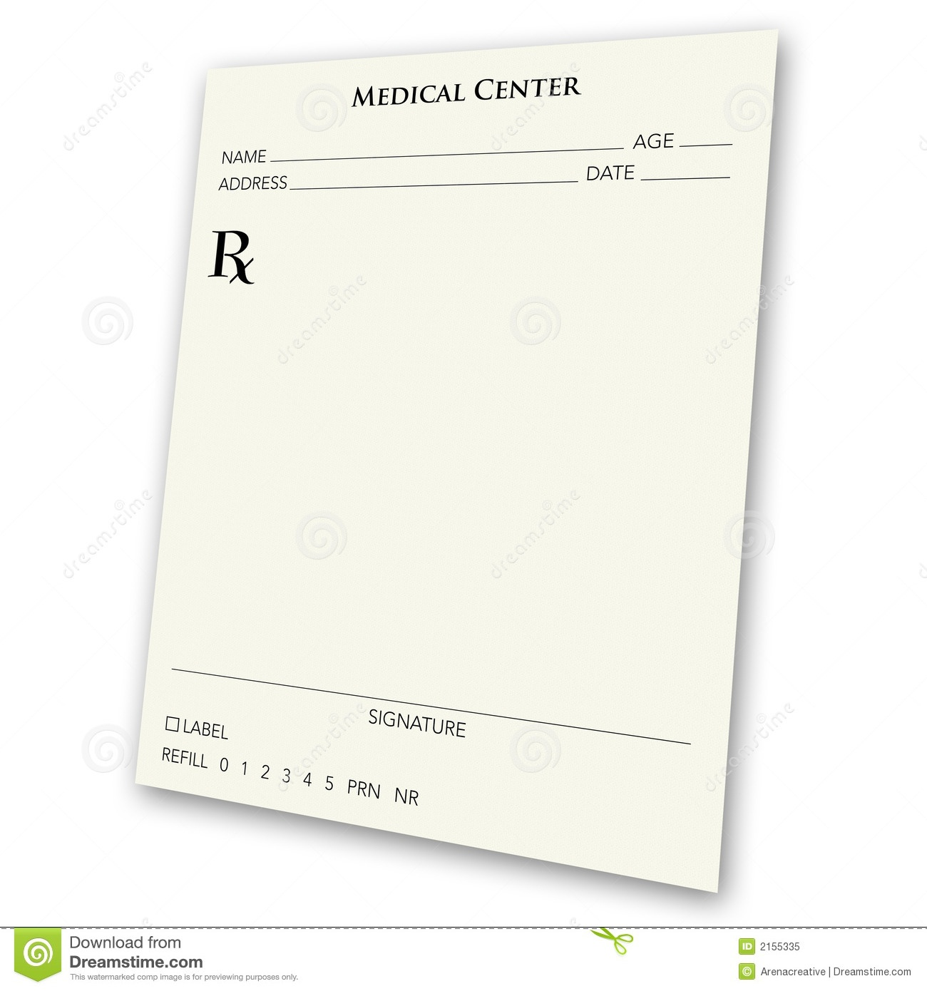 Blank Prescription Pad Stock Illustration. Illustration Of Health - Free Printable Prescription Pad