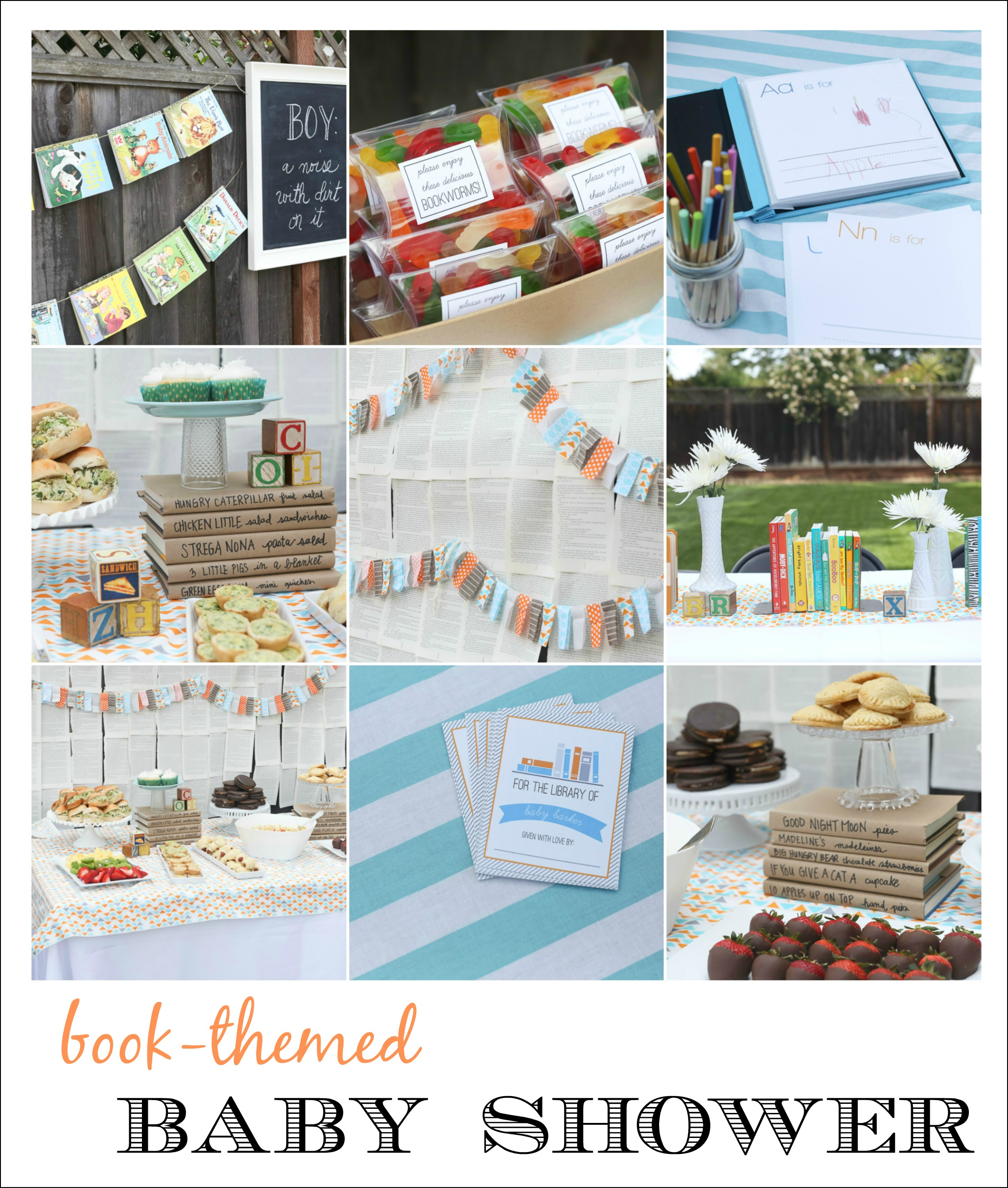 Book Baby Shower (And Free Printables!) - Free Printable Book Themed Baby Shower Invitations