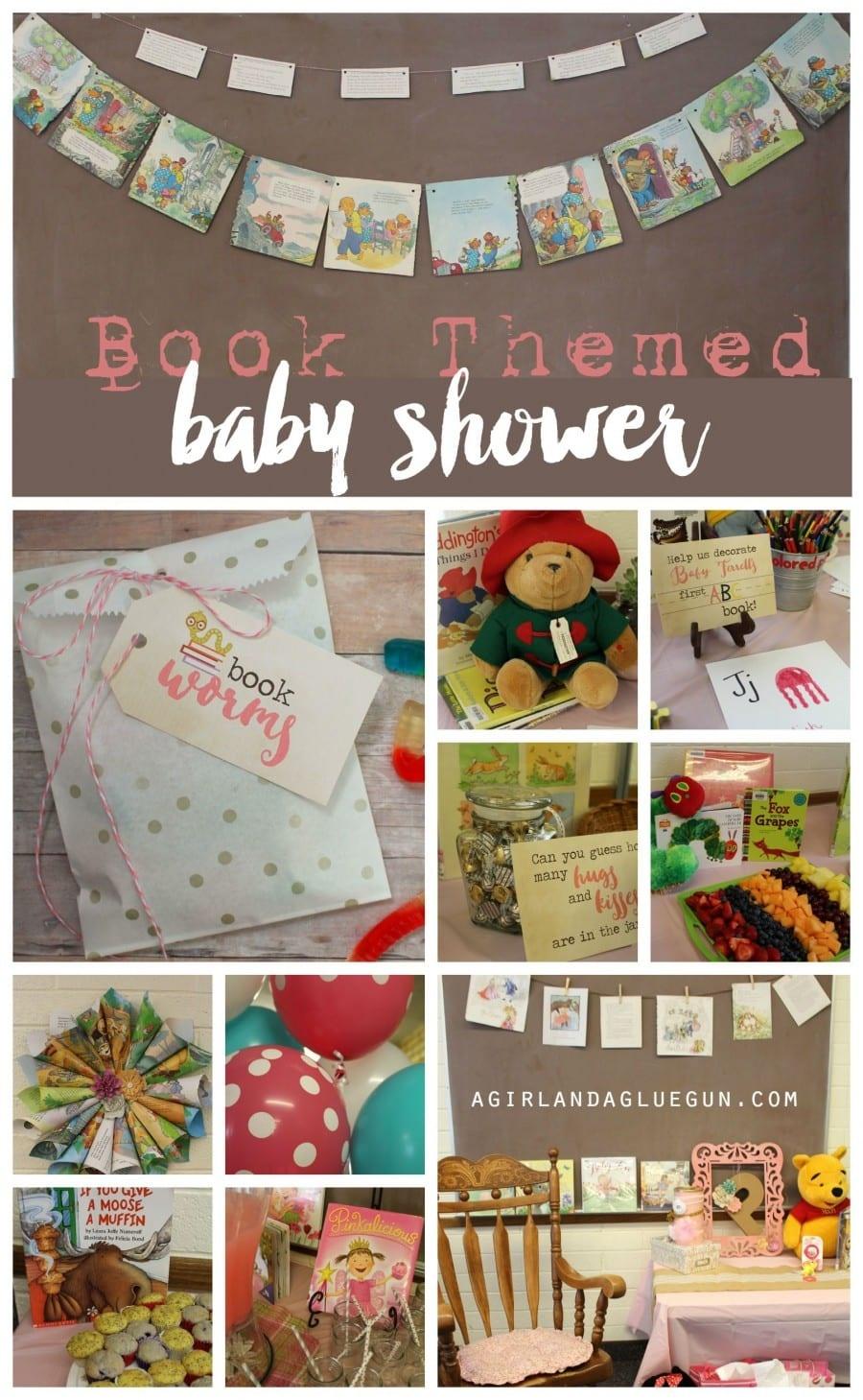 Book Themed Baby Shower !!! - A Girl And A Glue Gun - Free Printable Book Themed Baby Shower Invitations