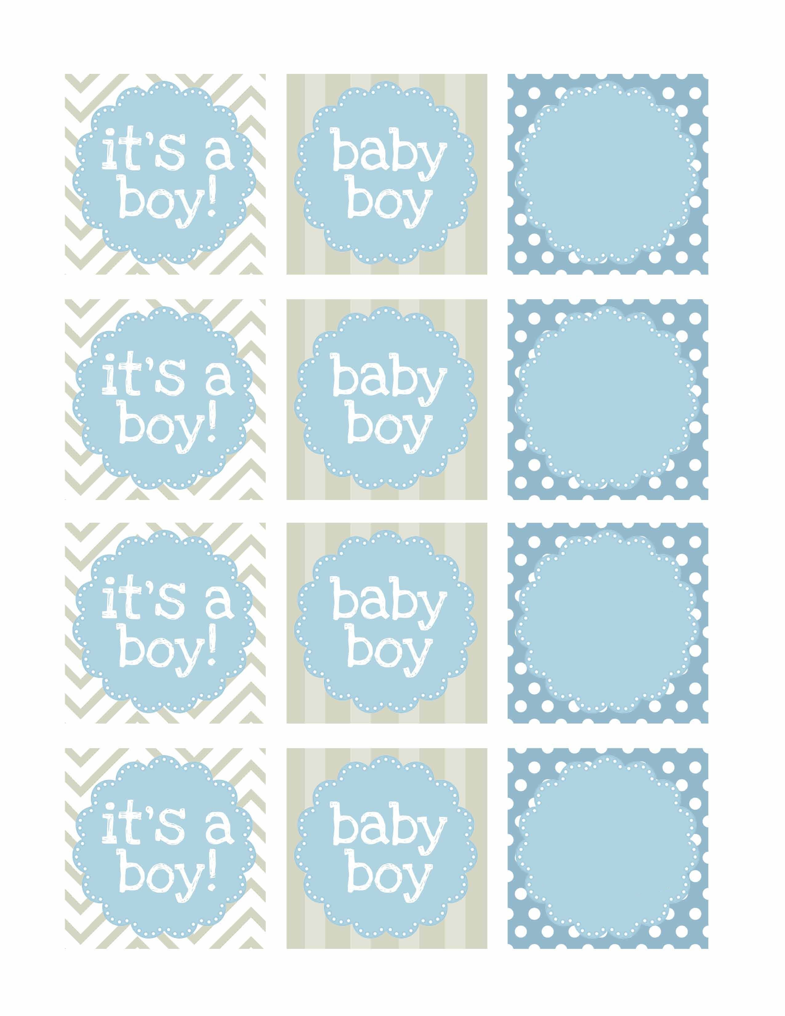 Boy Baby Shower Free Printables   Printable   Návody, Nápady, Tisk - Free Printable Baby Shower Favor Tags