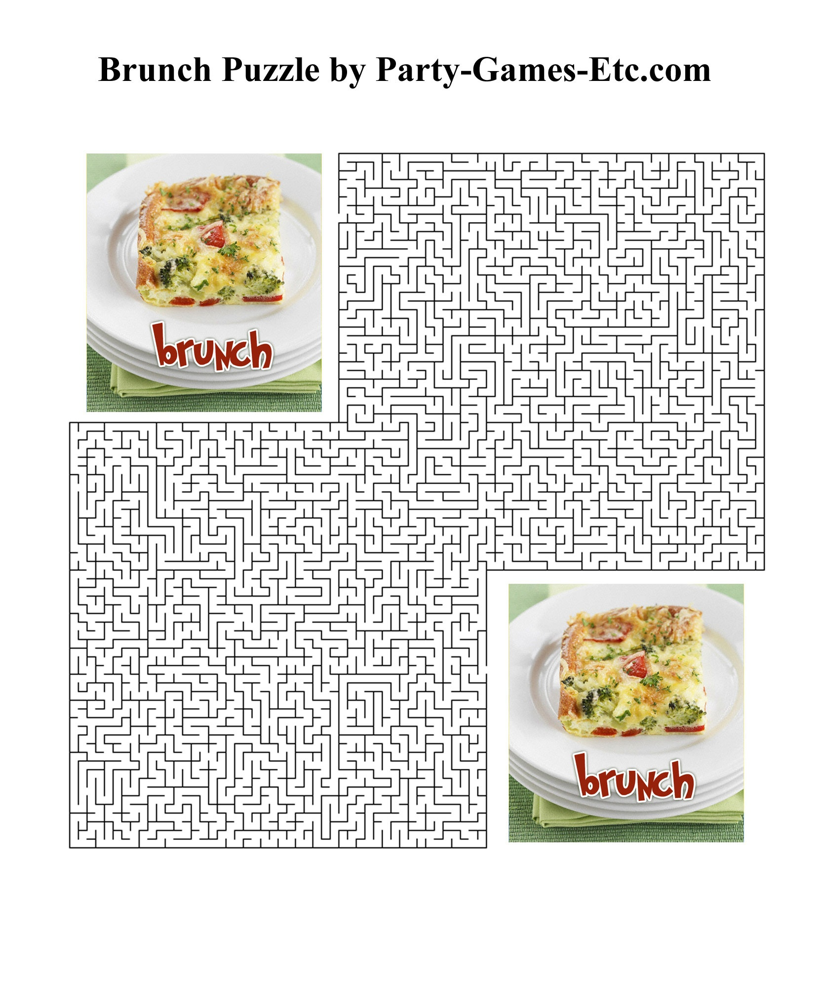 Brunch Party Games, Free Printable Games And Activities For A Theme - Over The Hill Games Free Printable