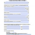 California Minor Child Power Of Attorney Form - Power Of Attorney - Free Printable Legal Forms California