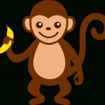 Cartoon Monkey Clip Art | Cute Monkey With Banana - Free Clip Art - Free Printable Sock Monkey Clip Art