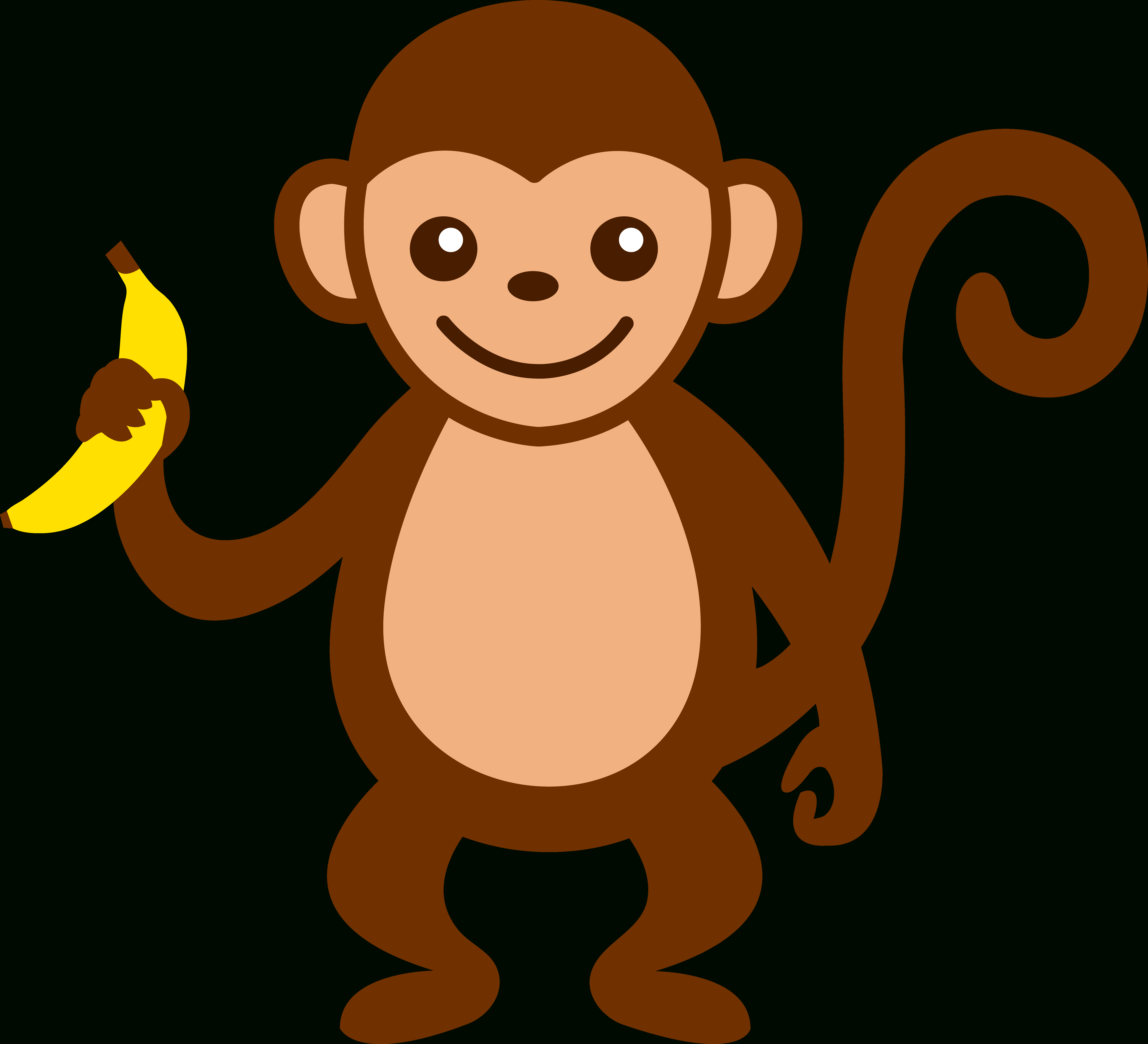 Cartoon Monkey Clip Art | Cute Monkey With Banana - Free Clip Art - Free Printable Sock Monkey Clip Art