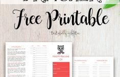 Cat Immunization & Medical Tracker {Free Printable} – Tastefully – Free Printable Pet Health Record