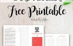 Cat Immunization & Medical Tracker {Free Printable} – Tastefully – Free Printable Pet Health Record