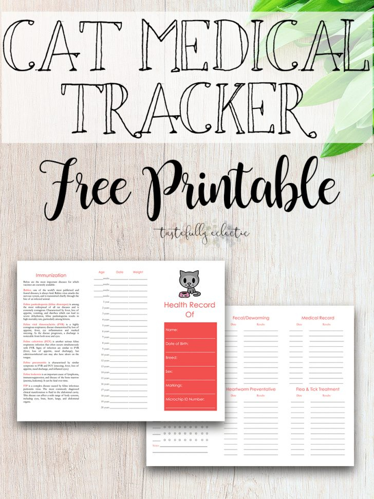 Free Printable Pet Health Record