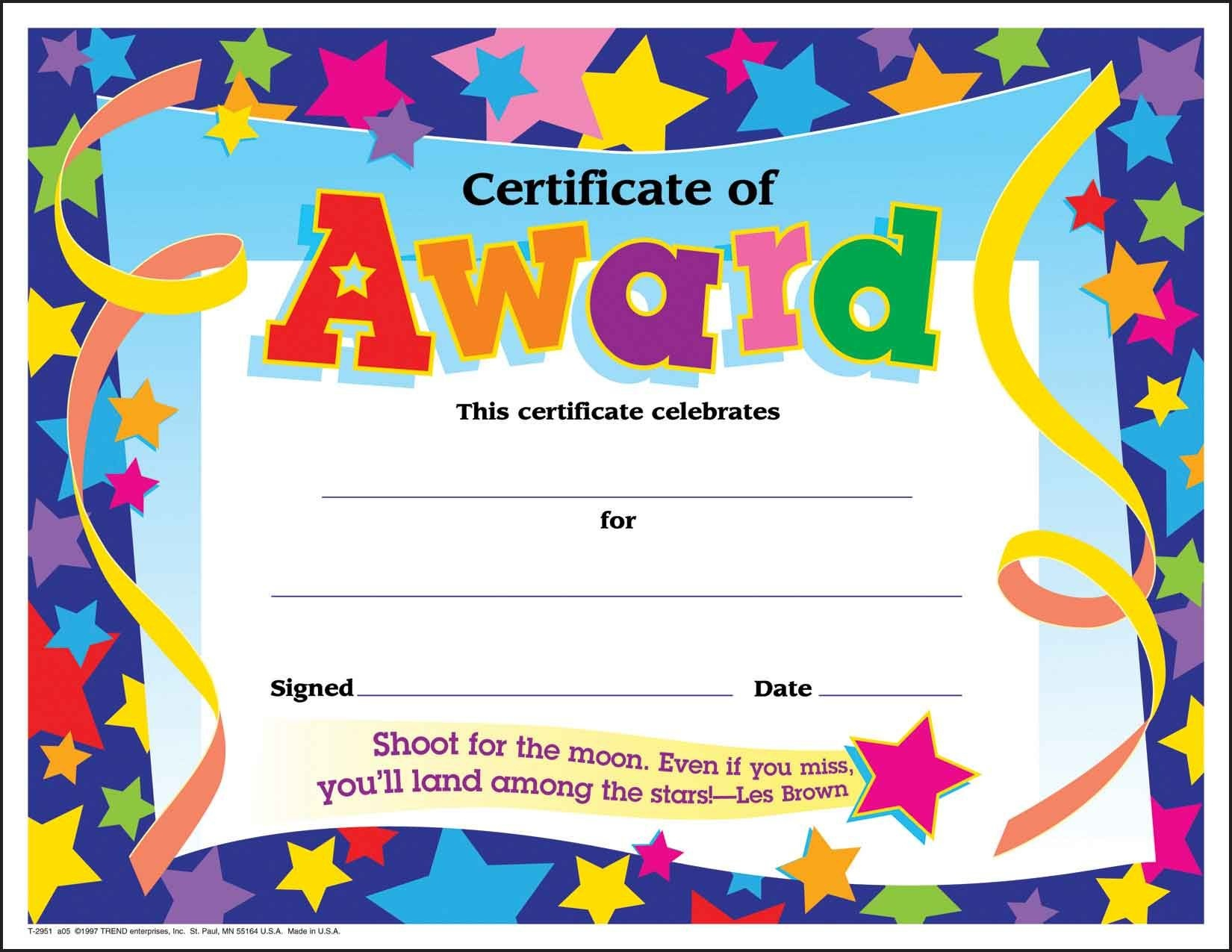 Certificate Template For Kids Free Certificate Templates - Free Printable Honor Roll Certificates Kids