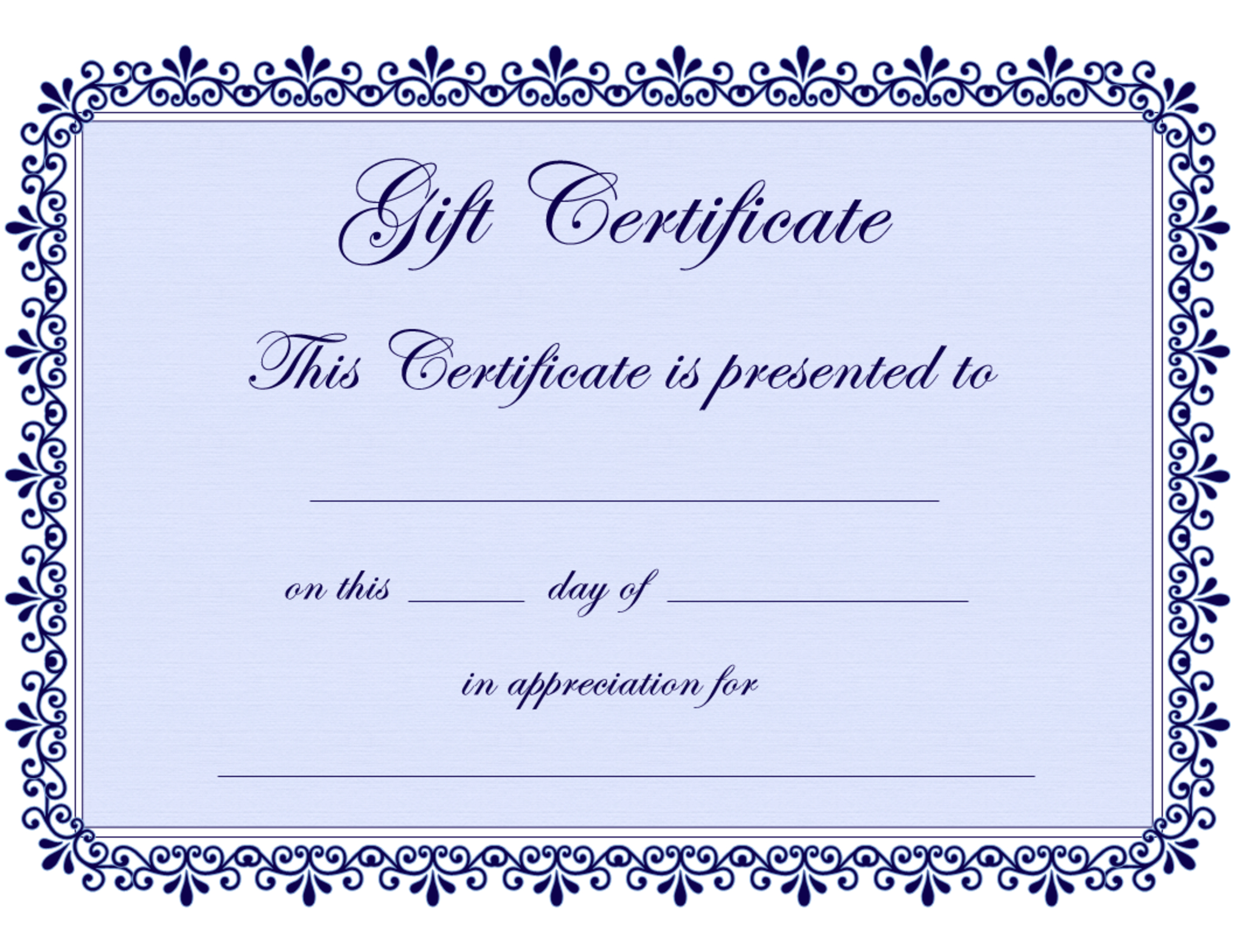 Certificate Templates   Gift Certificate Template Free - Pdf - Commitment Certificate Free Printable